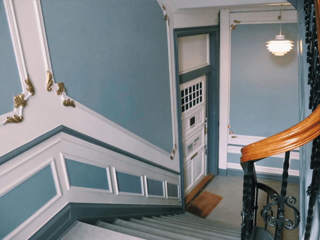 Billede af opgangen hos Psykolog Mette Kyung - Vesterbrogade 20, 3.tv.